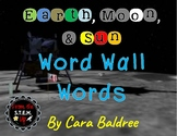 Earth, Moon, and Sun Vocabulary Word Wall Words and Pictures