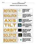 Earth Motion Vocabulary with KEY and BONUS Activity!