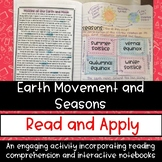 Earth Movement and Seasons Reading Comprehension Interacti