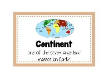 Earth Movements Word Wall
