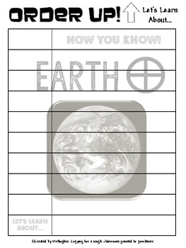 Earth - Order Up! Let's Learn About... Our Solar System