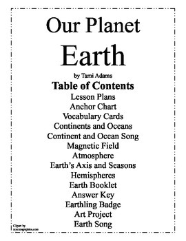 Earth, Our Planet