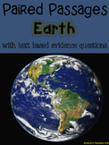 Earth Paired Passages with Text Based Evidence Questions