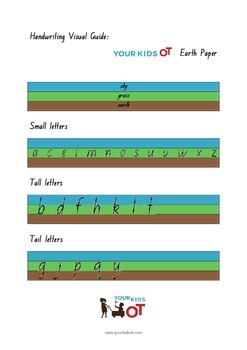 Earth Paper: A visual guide to letter size for handwriting legibility.