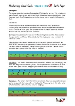 Earth Paper: A visual guide to letter size for handwriting
