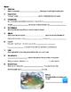 Earth Primer iPad App Question Sheets