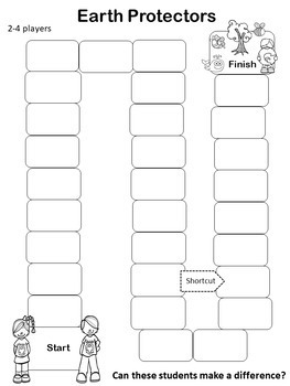 Earth Protectors Gameboard Activity