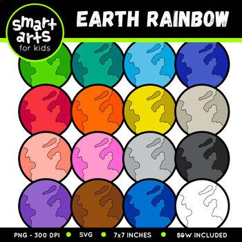 Earth Rainbow Clip Art