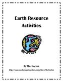 Earth Resource Activities- Energy/Resources