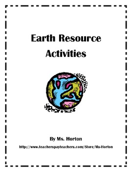 Earth Resource Activities- Energy/Resources