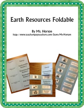 Earth Resources Foldable