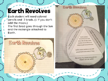 Earth Revolve and Rotate Interactive Notebook