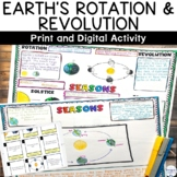 Earth Rotation Revolution Seasons NGSS Activity