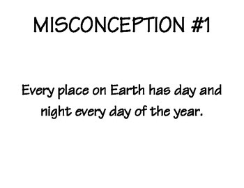 Earth Rotation and Revolution - Misconceptions - Discussion Statements