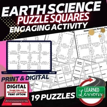 Earth Science 19 Review Puzzles BUNDLE (Earth Science BUNDLE)