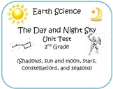 Earth Science 2nd Grade Test (Shadows, sun, stars, constel