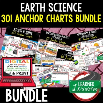 Earth Science Anchor Charts Bundle 301 pages (Earth Science Bundle)