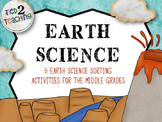 Earth Science - 5 NO PREP Sorting Activities for the Middle Grades
