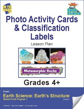 Earth Science  - 72 Photo Activity Cards & Classification Labels