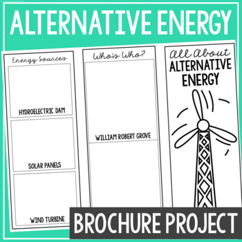 ALTERNATIVE ENERGY: Earth Science Research Brochure Template Project