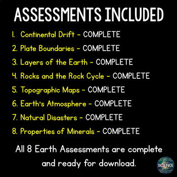 Earth Science Assessments Bundle