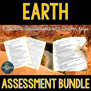 Earth Science Assessments Bundle - Distance Learning Compatible