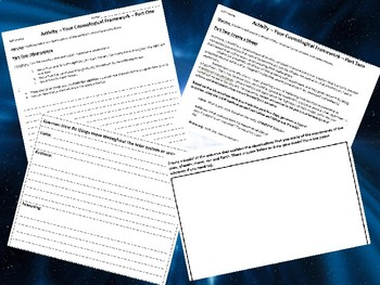 Earth Science/Astronomy CER Activity: Your Cosmological Framework