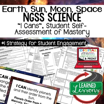 Earth Science Astronomy & Space Explor. Stud. Self Assessment of Mastery I Cans