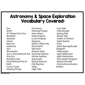 Earth Science Astronomy & Space Exploration 47 I Have Who Has Game Cards