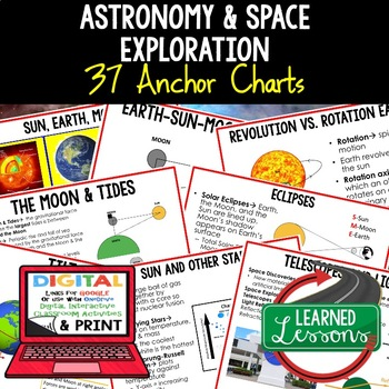 Earth Science Astronomy & Space Exploration Anchor Charts