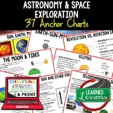 Planets and Solar System Anchor Charts, Posters, Earth Science Anchor Charts