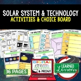 Solar System & Planets, Space Exploration Activities, Choice Board, Google