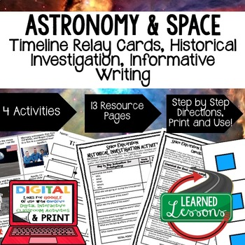 Earth Science Astronomy & Space Exploration Timeline & Writing with Google Link