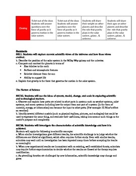 Earth Science Astronomy Unit Page 4: Gravity Lesson Plans