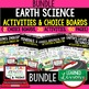 Earth Science Atmosphere Air Water Climate Weather Activities Choice Board