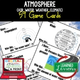 Atmosphere Game Cards, Earth Science Test Prep, NGSS