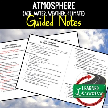 Earth Science Atmosphere Guided Notes