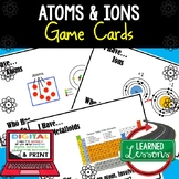 Atoms Game Cards, Test Prep, NGSS, Print & Digital Distance Learning