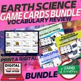 Earth Science Game Cards, Test Prep, Print & Digital Distance Learning BUNDLE