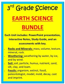 Earth Science BUNDLE - 3rd Science