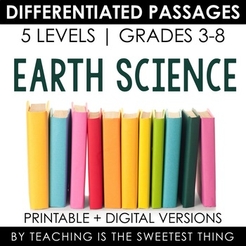Earth Science BUNDLE: Differentiated Reading Passages