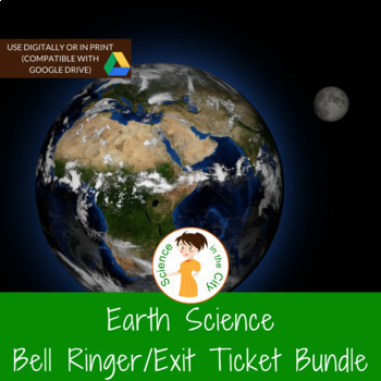 Earth Science Bell ringers, Warm ups, or Exit Ticket Full Year Bundle