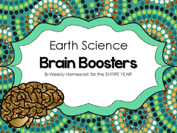 Earth Science - Brain Boosters - Homework for an ENTIRE YEAR
