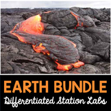Earth Science Labs Bundle - 9 Differentiated Science Station Labs