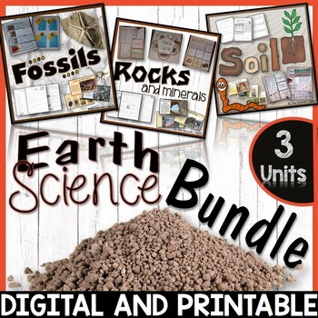 Rocks and Minerals, Soil, Fossils - Earth Science Bundle 3 units 25% off!
