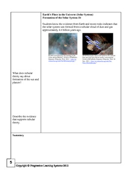 Earth Science California State Standard Review Workbook Sample