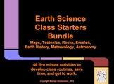 Earth Science Class Starters 1 & 2 Bundle