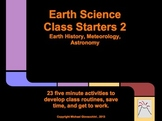 Earth Science Class Starters: Earth History, Meteorology,