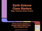 Earth Science Class Starters: Maps, Tectonics, Rocks, Erosion