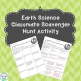 Earth Science Classmate Scavenger Hunt Activity